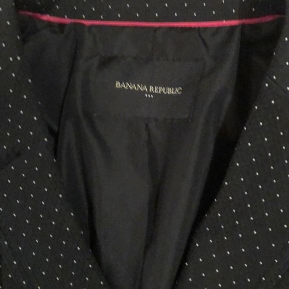 Banana Republic Jackets & Blazers - Banana Republic black blazer with white polka dots